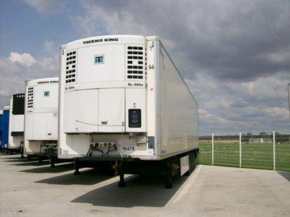 Krone, SDR27EL-FB, návěs chladírenský, bez nosiče palet, háky na transport masa ve visu, 2003, 514 000 km