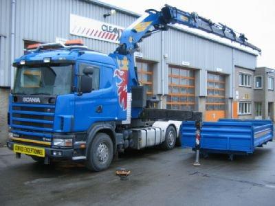 scania 6X4 580 PK.mod 2004 MIT KRAAN 54 ton