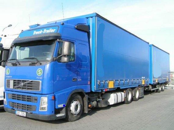 VOLVO FH12 420PS, 6x2, Glob., lowdeck, BDF, EURO3, klima, spoilery, kontejnerový podvozek, 518 000 km